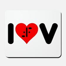 I Heart V Mousepad