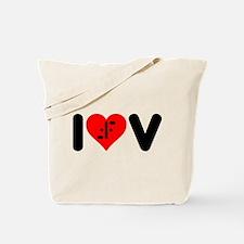 I Heart V Tote Bag