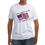 Real American Hero - Munley Fitted T-Shirt