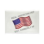 Real American Hero - Munley Rectangle Magnet (10 p