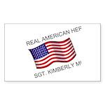 Real American Hero - Munley Rectangle Sticker 50