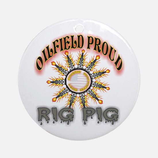 Rig Pig Ornament (Round)