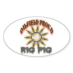 Rig Pig Oval Decal