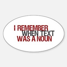 Text Txt Noun Oval Decal