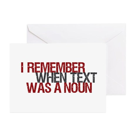 Text Txt Noun Greeting Cards (Pk of 20)