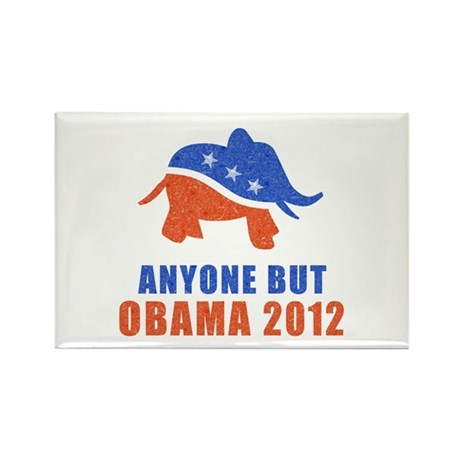 Anyone But Obama Rectangle Magnet