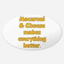 Mac N Cheese Oval Decal
