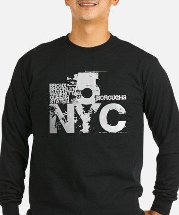 NYC_5_Boroughs Long Sleeve T-Shirt