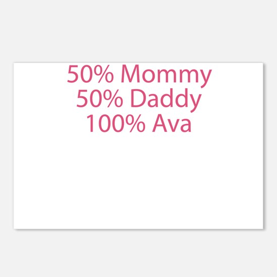 100% Ava Postcards (Package of 8)