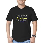 This Is What Autism's Looks L Men's Fitted T-Shirt