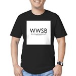 Who Would Sue Blame? Men's Fitted T-Shirt (dark)