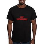 Stop Musturbation Men's Fitted T-Shirt (dark)