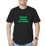 Kinsey Thinks I'm Kinky Men's Fitted T-Shirt (dark