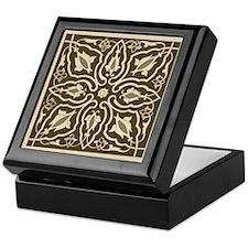 Sepia Floral Keepsake Box