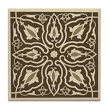Sepia Floral Tile Coaster