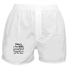 Henry is the Boss Boxer Shorts