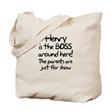 Henry is the Boss Tote Bag