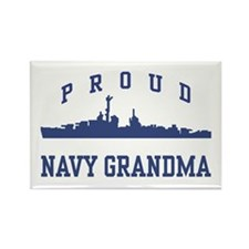 Proud Navy Grandma Rectangle Magnet