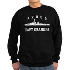 Proud Navy Grandpa Jumper Sweater