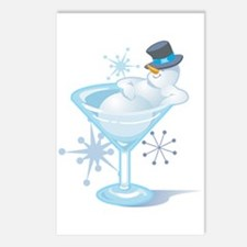 Snowman Martini Postcards (Package of 8)