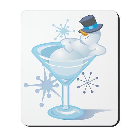 Snowman Martini Mousepad