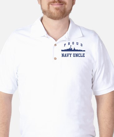 Proud Navy Uncle Golf Shirt