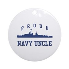 Proud Navy Uncle Ornament (Round)
