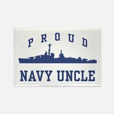 Proud Navy Uncle Rectangle Magnet
