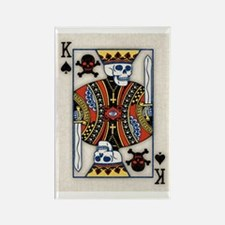 King of Skulls Rectangle Magnet