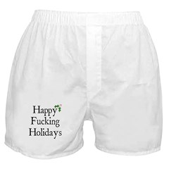 Happy F'in Holidays Boxer Shorts