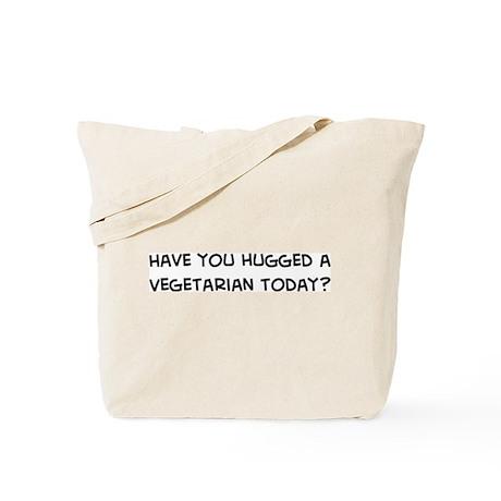 Hugged a Vegetarian Tote Bag