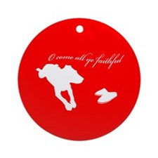 Come All Ye Faithful Ornament (Round)