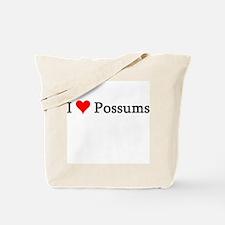 I Love Possums Tote Bag