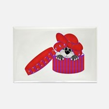 Red Hat Cat Rectangle Magnet