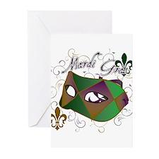 Mardi Gras 1 Greeting Cards (Pk of 20)
