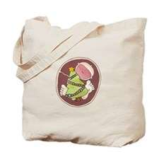Christmas Baby in Belly Tote Bag
