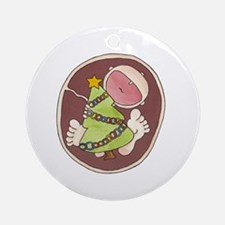 Christmas Baby in Belly Ornament (Round)