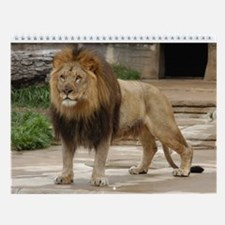 Lion At Attention Wall Calendar