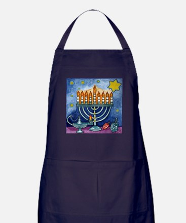 Menorah Cartoon Apron (dark)