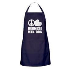 Peace Love Bernese Mtn. Dog Apron (dark)