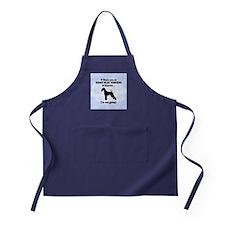 Kerry Blue Terriers In Heaven Apron (dark)