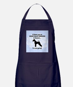 Kerry Blue Terriers In Heaven Apron (dark)