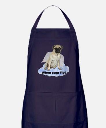 When Pugs Fly Apron (dark)