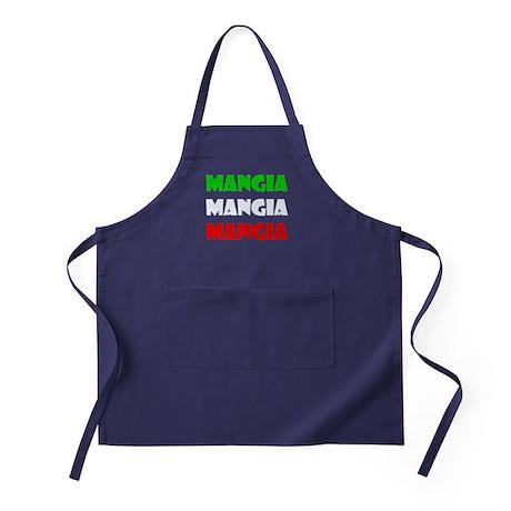 Mangia Mangia Mangia Apron (dark)