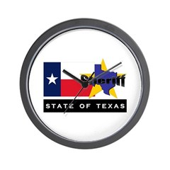 Texas Sheriff Wall Clock