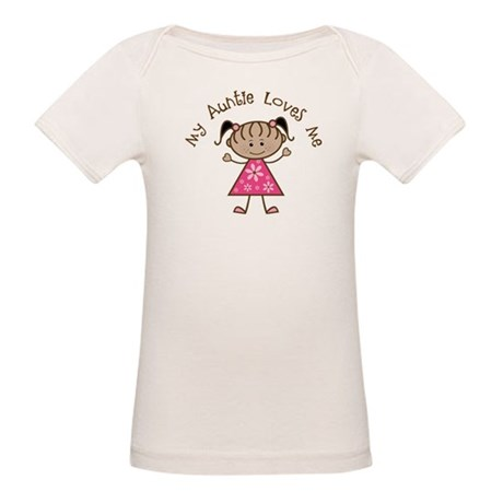 My Aunt Loves Me Organic Baby T-Shirt