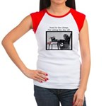 Red Stapler Chimp Women's Cap Sleeve T-Shirt