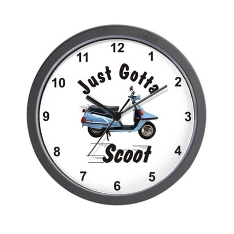 Just Gotta Scoot Riva Wall Clock