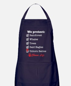 We Protect Apron (dark)