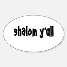 Shalom Y'All Jewish Oval Decal